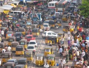Rusningstrafik i Kolkata