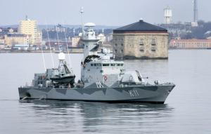 HMS  Stockholm vid Godnatt
