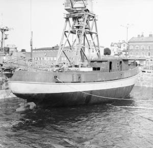 Docka vattenfylls 30aug 1956